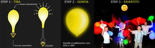 Palloncini a led colorati - Palloncini luminosi